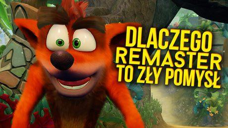 Dlaczego remaster Crasha Bandicoota to zły pomysł? Krytycznie o polityce Sony