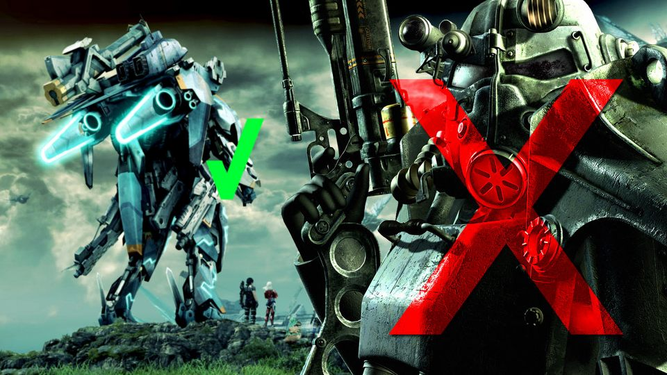 Power Armor kontra Skell � o nagradzaniu gracza w Fallout 4 i Xenoblade